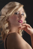 Cute blond woman with hair style Stock Photos