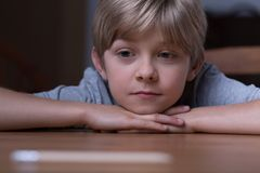 Cute blonde boy Stock Images