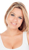 Cute Blonde Girl with blue eyes looking at camera Royalty Free Stock Image