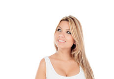 Cute Blonde Girl with blue eyes Stock Photo