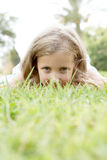 Cute Blonde Girl On Nature Royalty Free Stock Image