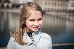 Cute blonde girl posing Royalty Free Stock Images