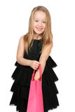 Cute blonde girl shopper Royalty Free Stock Images