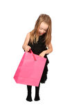 Cute blonde girl shopper Stock Photos