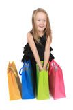 Cute blonde girl shopper Stock Image