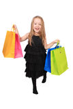 Cute blonde girl shopper Stock Photography