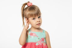 Cute blonde girl Royalty Free Stock Photos
