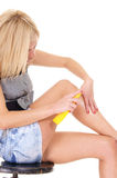 cute blonde legs Stock Photos