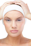 Cute blonde model wearing headband Royalty Free Stock Photo
