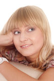 Cute blonde portrait Royalty Free Stock Images