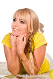 Cute blonde portrait Royalty Free Stock Image