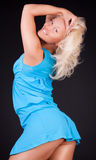 Cute blonde is posing Royalty Free Stock Images