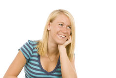 Cute Blonde Smiling Revised 2 Stock Photography