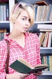 Cute blonde student girl Royalty Free Stock Photo