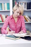 Cute blonde student girl Stock Photo