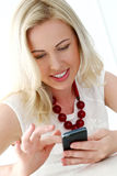 Cute blonde with wide smile Stock Images