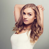 Cute blonde woman Royalty Free Stock Images