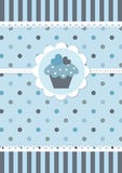 Cute blue baby background Stock Photo
