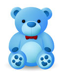 Cute Blue Bear Doll Stock Photos