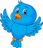 Cute blue bird cartoon vector illustration