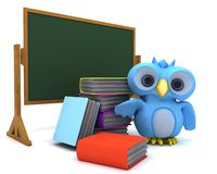 Cute Blue Bird Character Stock Images