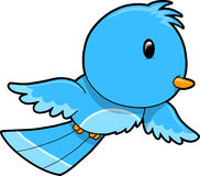 Cute Blue Bird Vector Royalty Free Stock Photo