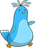 Cute Blue Bird Vector Royalty Free Stock Image