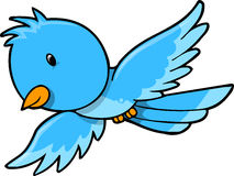 Cute Blue Bird Vector Royalty Free Stock Images