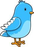 Cute Blue Bird Vector Stock Photo