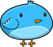 Cute Blue Bird Vector Stock Photography