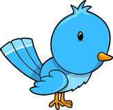 Cute Blue Bird Vector Stock Photos