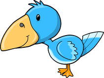 Cute Blue Bird Vector Stock Images