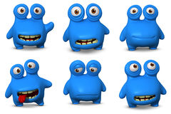 Cute blue bug. 3d cartoon cute blue bug Royalty Free Stock Images