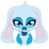 Cute blue bunny Stock Photo