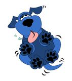 Cute Blue Dog Cartoon Stock Photo