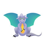 Cute blue dragon Royalty Free Stock Image