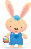 Cute Blue Easter Bunny Stock Photos