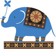 Cute Blue Elephant Royalty Free Stock Photo