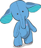 Cute blue elephant Stock Photography