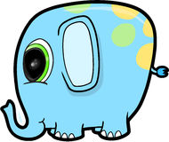 Cute Blue Elephant Stock Images