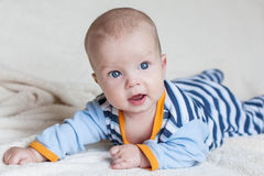 Cute blue-eyed baby boy Royalty Free Stock Image