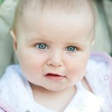 Cute blue-eyed baby Royalty Free Stock Photography