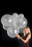 Cute blue-eyed blonde with wonderful balloons Royalty Free Stock Photo