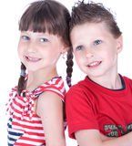Cute blue-eyed children Royalty Free Stock Photography