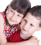 Cute blue-eyed children Stock Images
