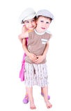 Cute blue-eyed children posing Royalty Free Stock Photo