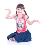 Cute blue-eyed girl posing Royalty Free Stock Photos