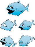Cute Blue Fish. Illustration of a really cute blue fish Royalty Free Stock Photos