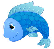 Cute blue fish Royalty Free Stock Photos