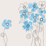 Cute blue flowers Royalty Free Stock Photo
